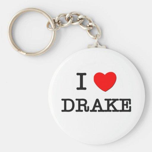 I Love Drake Basic Round Button Key Ring