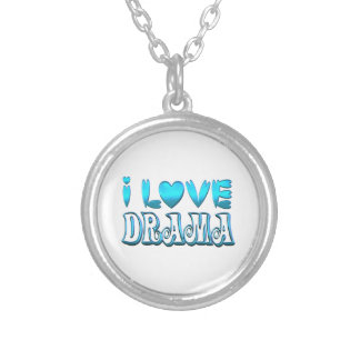 I Love Drama Silver Plated Necklace