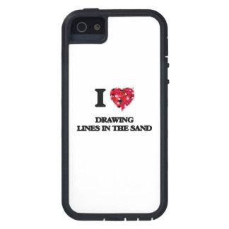 I love Drawing Lines In The Sand Case For The iPhone 5