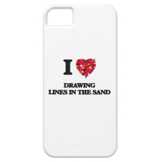 I love Drawing Lines In The Sand iPhone 5 Covers