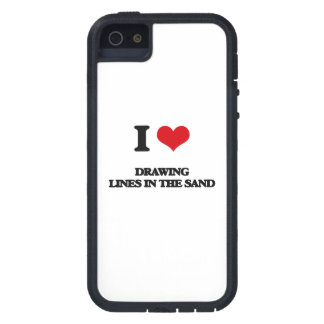 I love Drawing Lines In The Sand iPhone 5 Cover