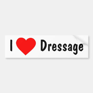I Love Dressage Bumper Sticker