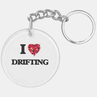 I love Drifting Double-Sided Round Acrylic Key Ring