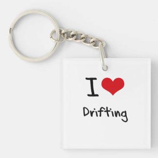 I Love Drifting Single-Sided Square Acrylic Key Ring