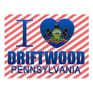 I Love Driftwood, PA Postcard