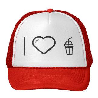 I Love Drink Straws Cap