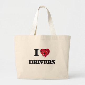 I love Drivers Jumbo Tote Bag