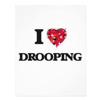 I love Drooping 21.5 Cm X 28 Cm Flyer