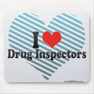 I Love Drug Inspectors Mouse Pad