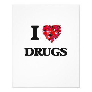I love Drugs 11.5 Cm X 14 Cm Flyer