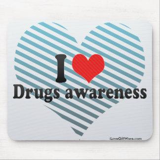 I Love Drugs awareness Mousepad