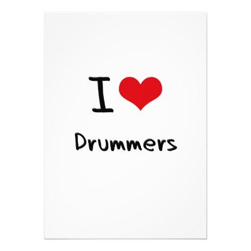 I Love Drummers Invitations