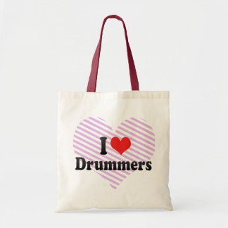 I Love Drummers Tote Bag