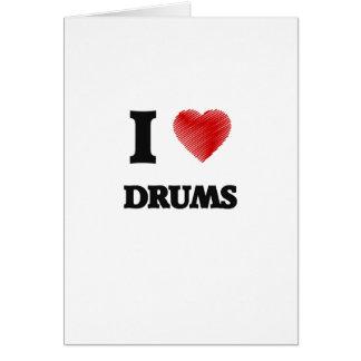 I love Drums Card