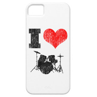 I Love Drums Distressed iPhone 5 Case