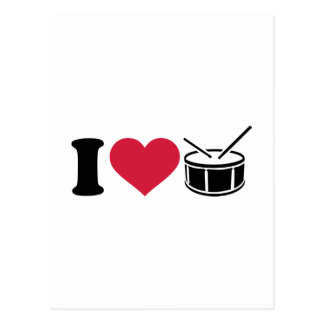 I love drums postcard