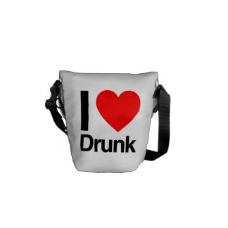 i love drunk courier bag