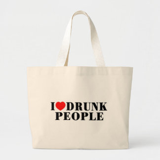I Love Drunk People Canvas Bag