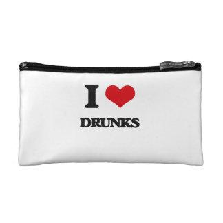 I love Drunks Cosmetics Bags