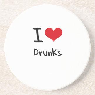 I Love Drunks Beverage Coaster