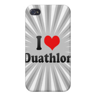 I love Duathlon iPhone 4 Cover
