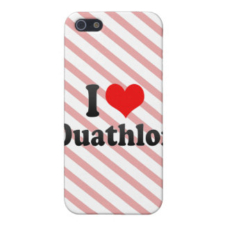 I love Duathlon Cover For iPhone 5