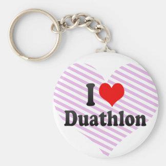 I love Duathlon Key Chains