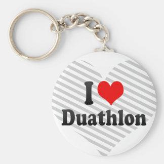 I love Duathlon Keychains