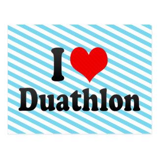 I love Duathlon Post Card