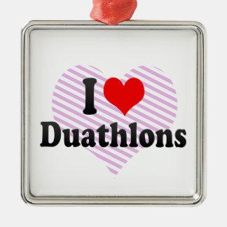 I love Duathlons Christmas Tree Ornaments