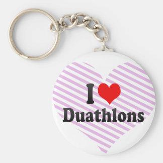 I love Duathlons Keychain
