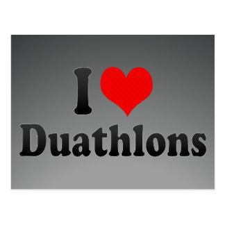 I love Duathlons Postcard