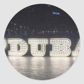 I Love Dubai Classic Round Sticker