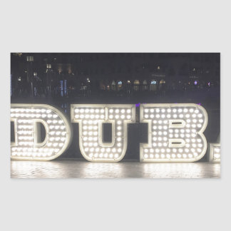 I Love Dubai Rectangular Sticker