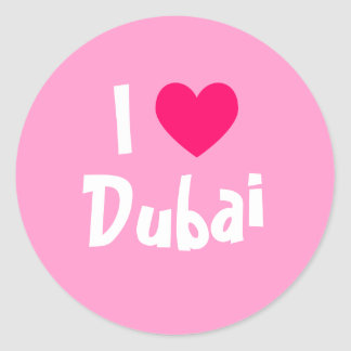 I Love Dubai Round Sticker