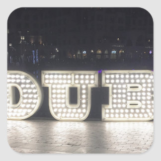 I Love Dubai Square Sticker