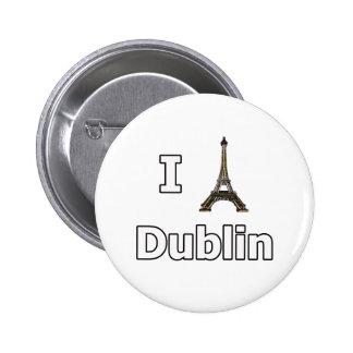 I love Dublin tourist fail 6 Cm Round Badge