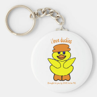 I LOVE DUCKIES - LOVE TO BE ME KEY CHAINS