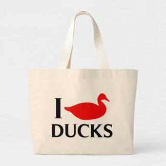 I Love Ducks Jumbo Tote Bag
