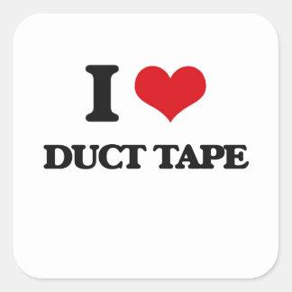 I love Duct Tape Square Sticker
