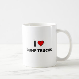 I love dump trucks basic white mug