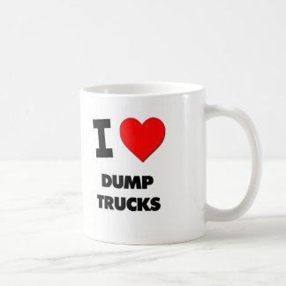 I Love Dump Trucks Mugs
