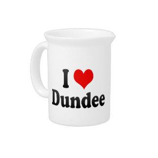I Love Dundee, United Kingdom Drink Pitcher