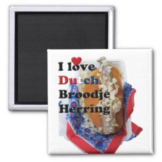 I Love Dutch Broodje Herring Fridge Magnet