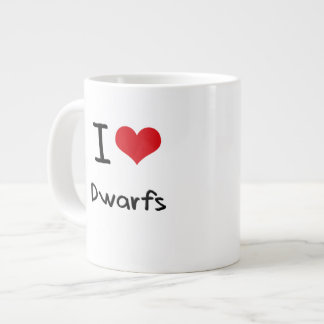 I Love Dwarfs Large Coffee Mug