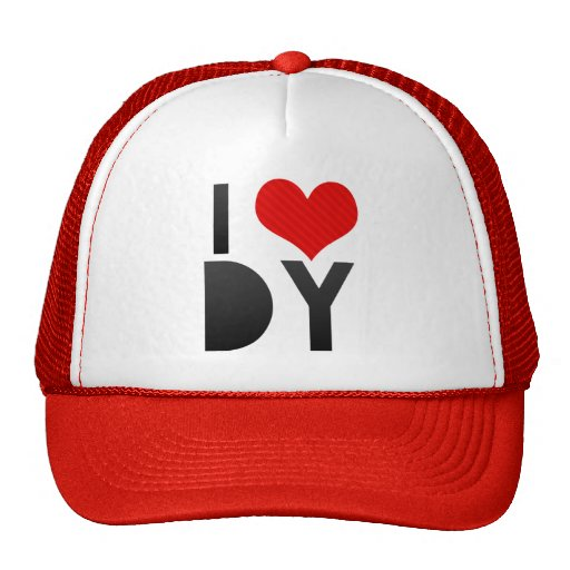I Love DY Mesh Hat