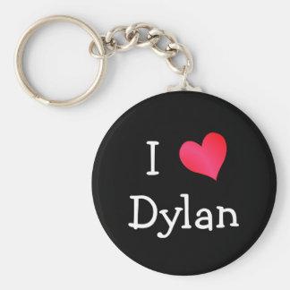 I Love Dylan Basic Round Button Key Ring