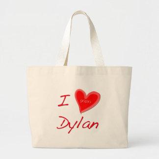 I Love Dylan Large Tote Bag
