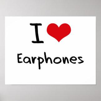 I love Earphones Print
