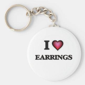 I love EARRINGS Key Ring